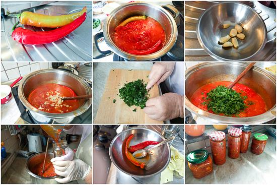 Pinđur je slastan namaz (prilog) od pečenih paprika i paradajza koji se lagano dinstao na srednjoj temperaturi sa začinima i bijelim lukom.