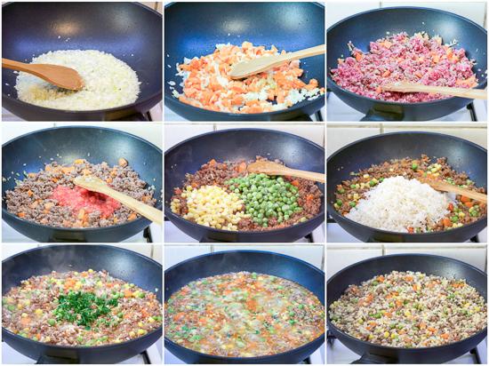 Rižoto sa povrćem i mesom