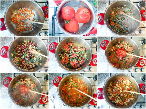 Jednostavna minestrone supa, recept za supu minestrone, lagani minestrone