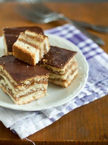 Žarbo šnite je kolač dovoljno bogat da parira torti. Taman kad pomislite da ste jeli previše čokolade, osjetićete kajsiju radi koje ćete uzeti bar još jedan komad.