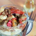 Zapečeni teleći sos sa patlidžanima i paprikama, sreli sos koji donosi čar i sofistikaciju restorana kući.