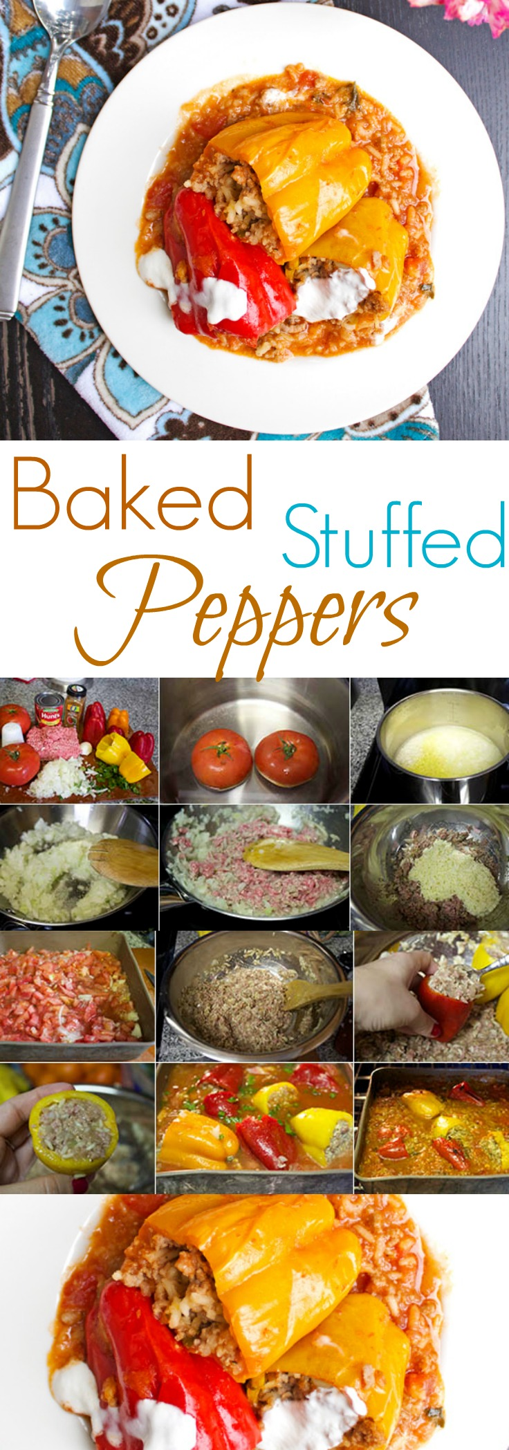 Simple stuffed peppers. Delicious, hearty, comfort meal. A perfect way to stay strong through the winter.