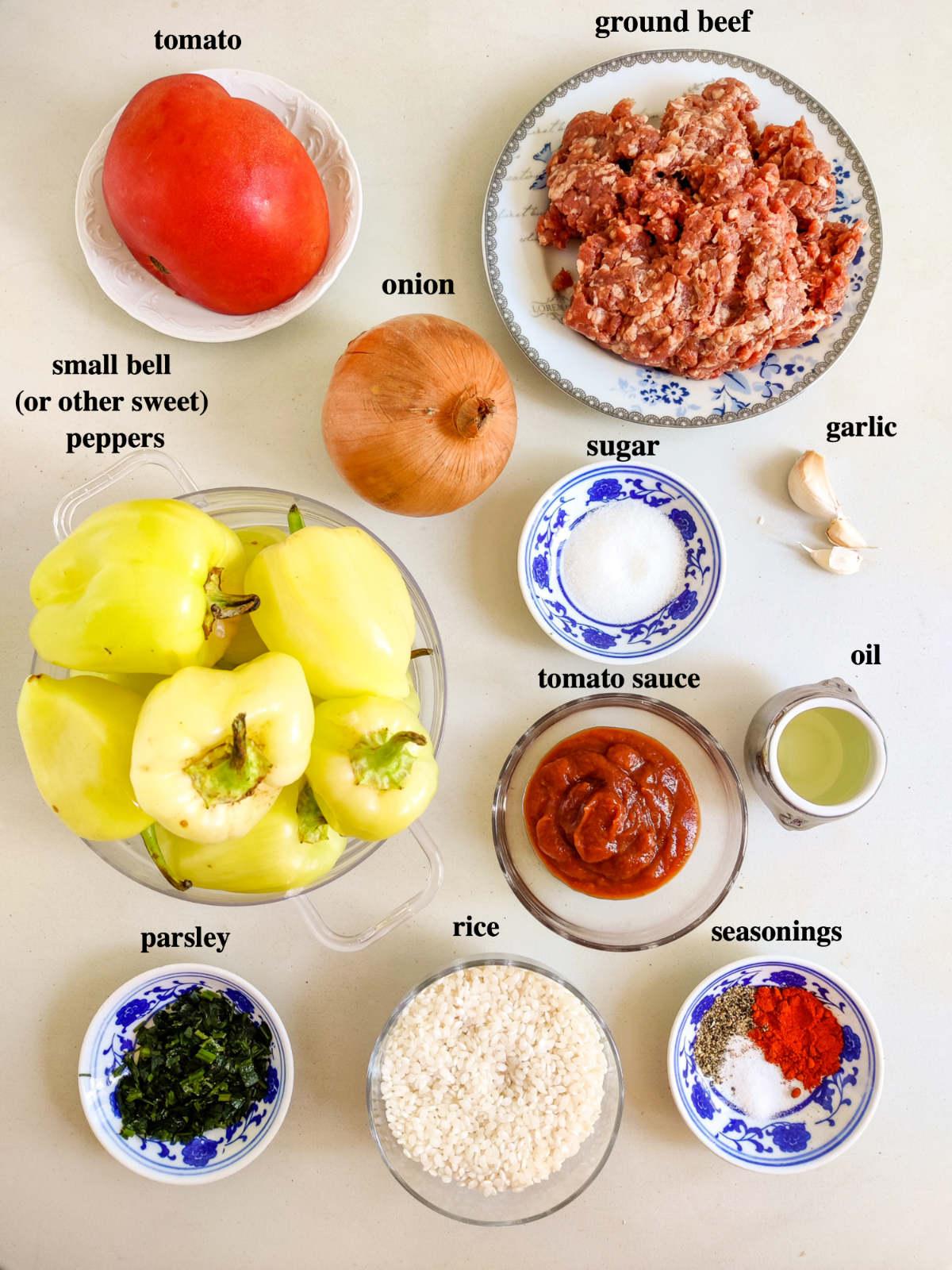 Photo of ingredients.