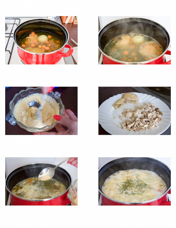 chicken soup with egg and gritz drops pileca supica s griz noklicama -03
