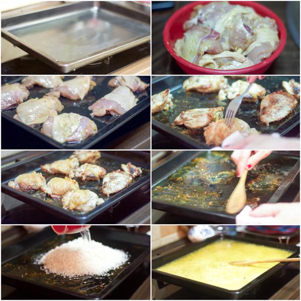 balkan baked chicken and rice casserole recipe pecena piletina sa rizom preparation