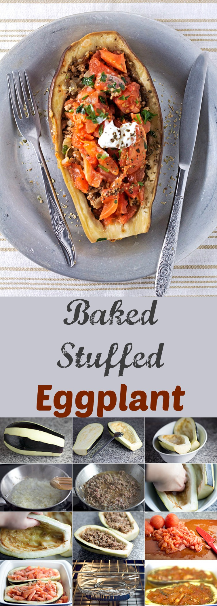 Ground beef, tomatoes, and spices as a filling to the perfect stuffed eggplant. For when you really want that perfect date night dinner.