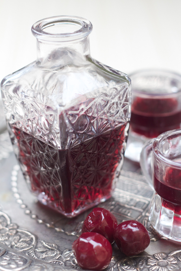 Višnjevača, or homemade sour cherry liqueur is a regular brandy or sherry infused with sour cherries and sugar, and left in the sun for 40 days until it becomes a dessert liqueur or aperitif.