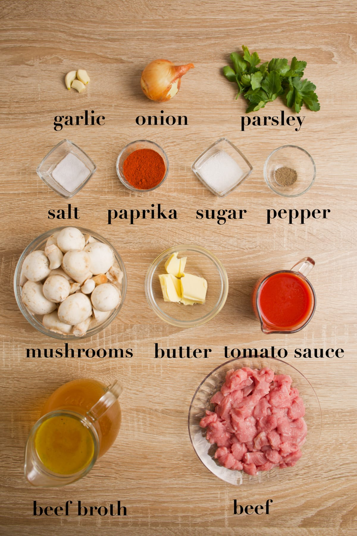 Ingredients needed to make the recipe.