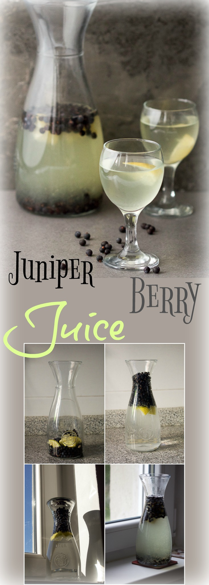 Fermented Juniper Berry Juice (aka smreka), is a sour and refreshing, lemonade-like beverage, perfect for quenching the thirst on a warm evening.