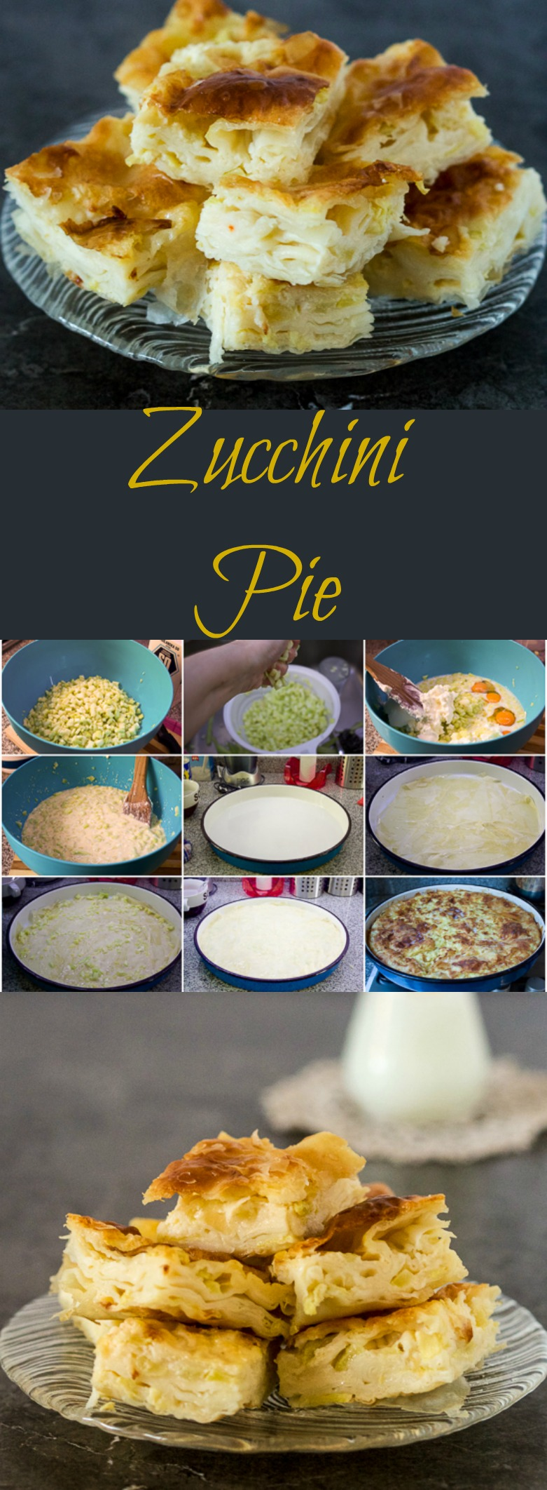 Zucchini pie is a savory pie with a refreshing kick, made with phyllo and zucchini cubes.