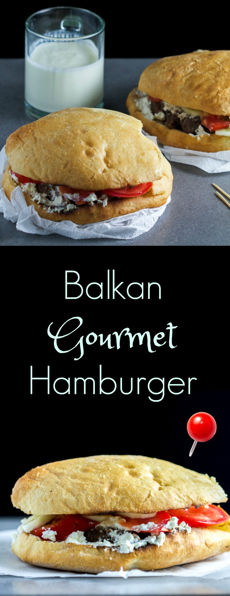 Balkan pljeskavice: gourmet patties for people who are tired of plain hamburgers! Tease your tastebuds with a balanced combination of meat and spices grilled to perfection, then adorned in a moist bun.