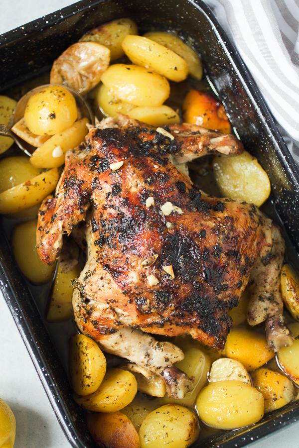 piletina pecena sa limunom i krompiricima oven baked chicken