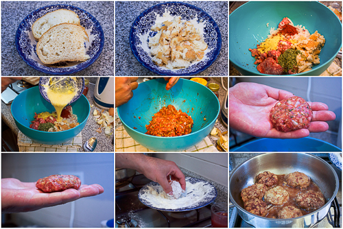 homemade beef patties snicle prep