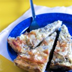 Eggplant and cheese pie: unconventional, savory, easy.