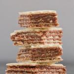 Closeup of four wafers.