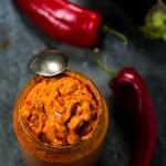 ajvar, chutney, pepper chutney, eggplant chutney, balkan spread, balkan dip ajvar, red pepper and eggplant dip, pepper dip | balkanlunchbox.com