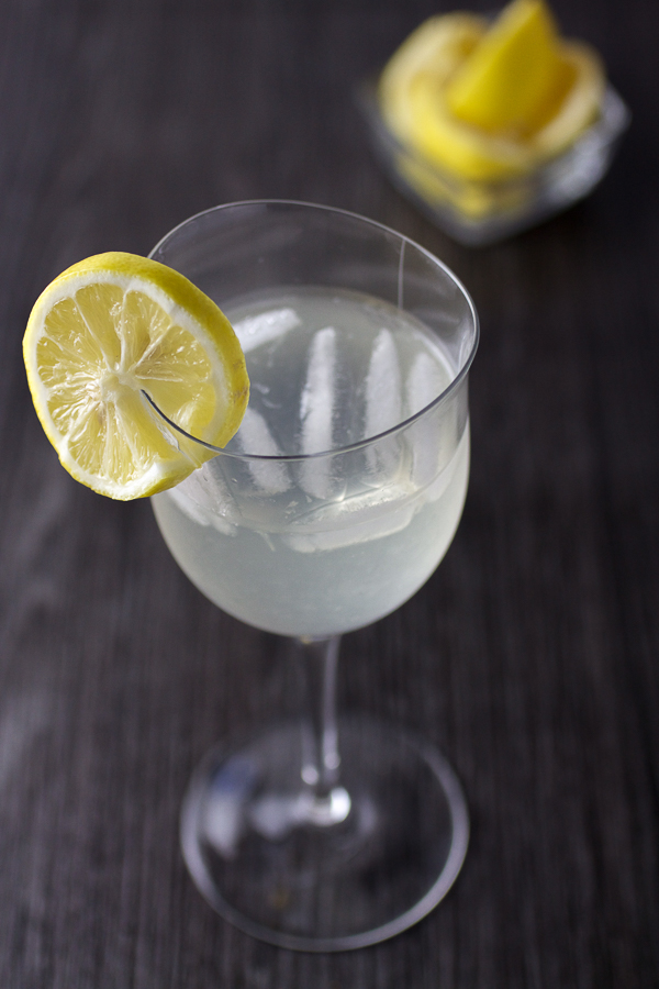 Fresh lemonade, mixed with white wine combine for a perfect afternoon drink.