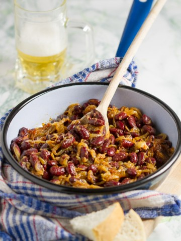 Macedonian baked beans are a beloved classic. This quick and tasty version is enough to give you a taste of this simple, unique dish, and inspire you to explore.