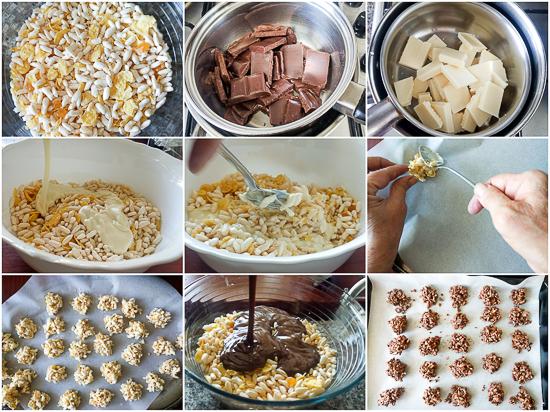 Puffed Rice and Cornflake Bites