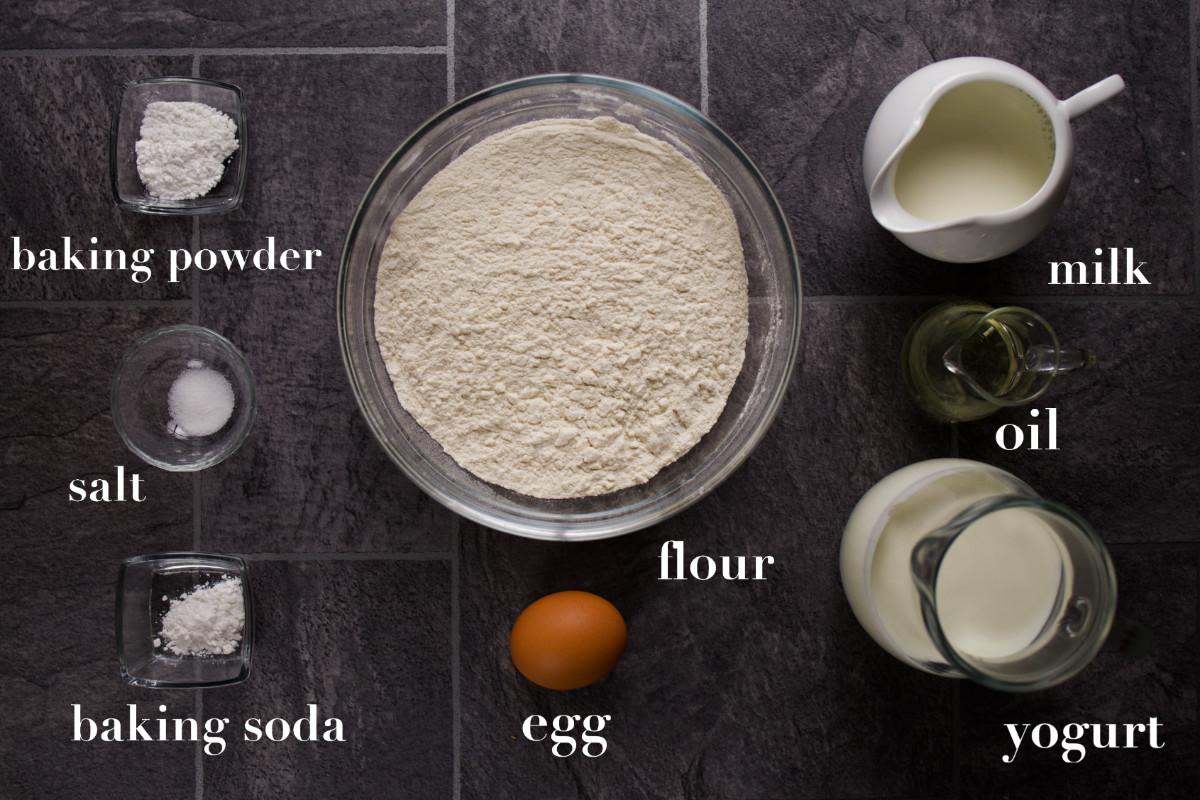 Ingredients for pogacha.