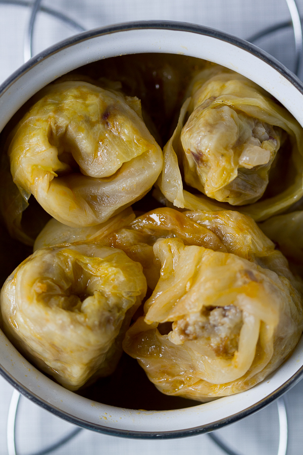 They don't call stuffed cabbage (sarma) the queen of the winter for nothing. Tender meat mixed with delicate rice, enriched with few simple seasonings then lovingly wrapped in fermented cabbage leaves. Cooked on low heat for a few hours until aromas and flavors embrace is nothing short of sensational.