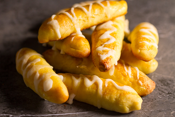 Golden bread sticks, painted with salt with just the right amount of crunch. You'll never try other bread sticks again.