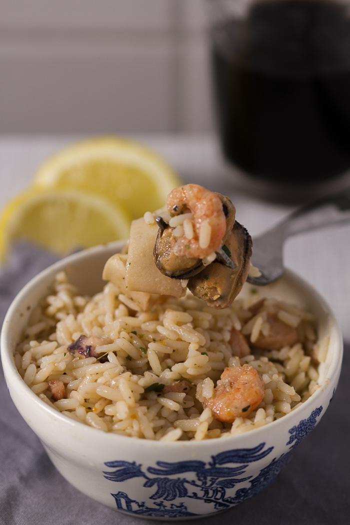 Classic seafood risotto in white wine is the quickest way to upgrade your weeknight meal into a sophisticated dinner. Minimal effort. Outstanding taste. You in?